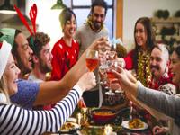 Dinerspel met Kerst of Oudejaarsavond